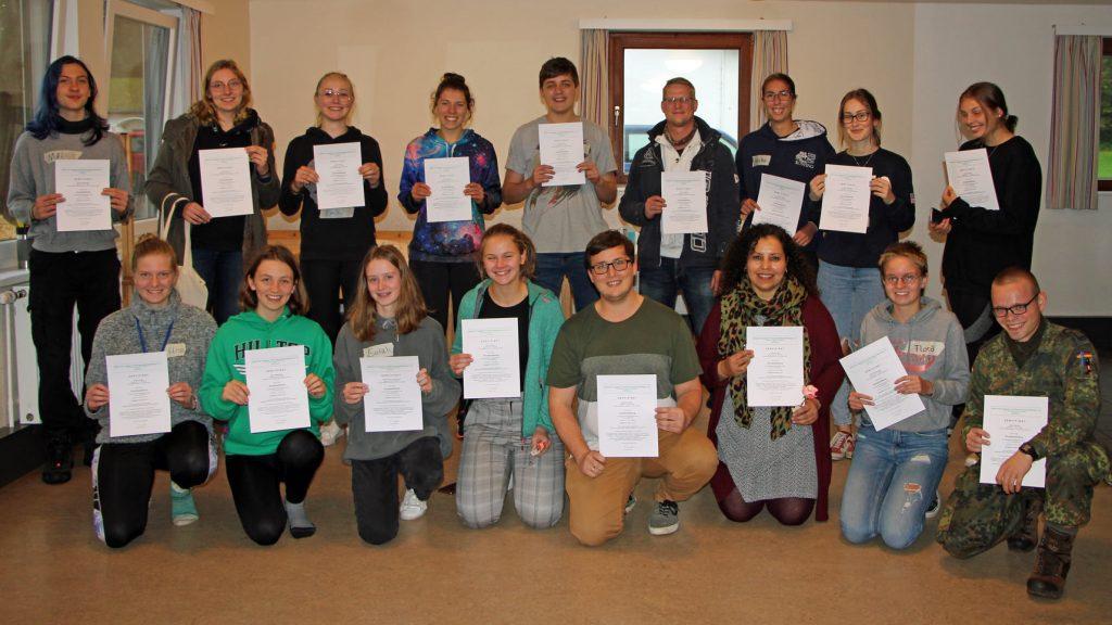 Teilnehmer*innen des JULEICA Grundkurs im Oktober 2020
